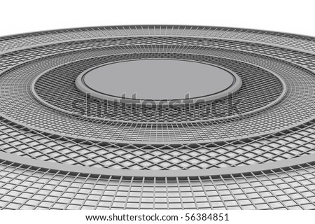 3d circular wireframe; almost any abject can be place in the middle, for presentation porpoises. - stock photo