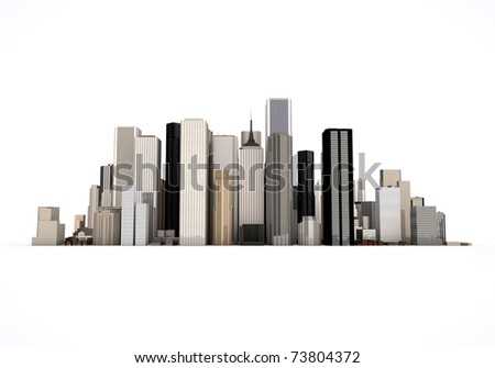 3D cityscape model - stock photo