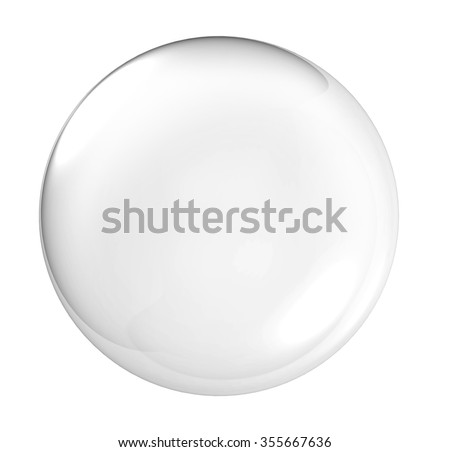 3D Clear glass ball - stock photo