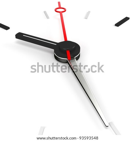 3d clock time concept on white background - stock photo