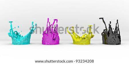 3D CMYK concept - stock photo