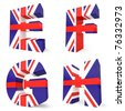 3d collection of UK letters - E F G H - stock photo