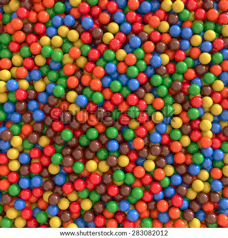 3d colorful beads background - stock photo