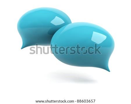 3d colorful bubble text. - stock photo