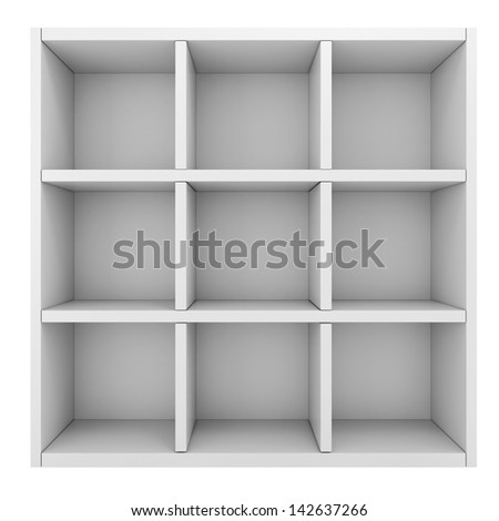3d colorful shelf - stock photo