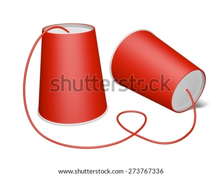 3D. Communication, Connection, Can. - stock photo