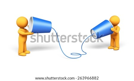 3D. Communication, Connection, Listening. - stock photo