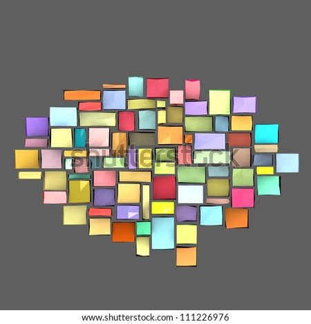 3d composition with rectangular shapes in multiple color