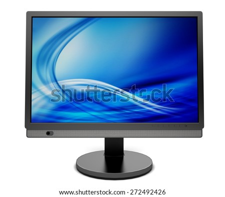 3D. Computer Monitor, Computer, PC. - stock photo