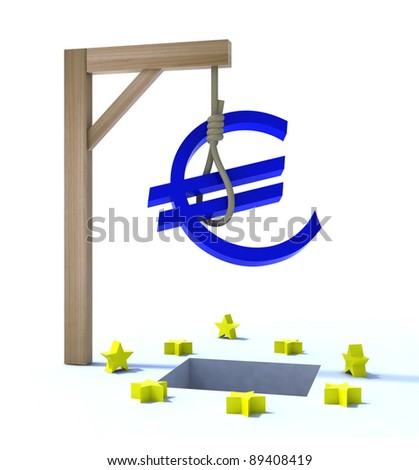 3d concept problem of the crisis in Europe - stock photo