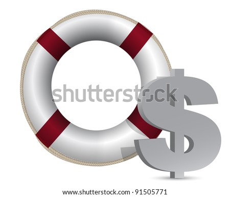 3d concept problem of the crisis in us illustration design - stock photo