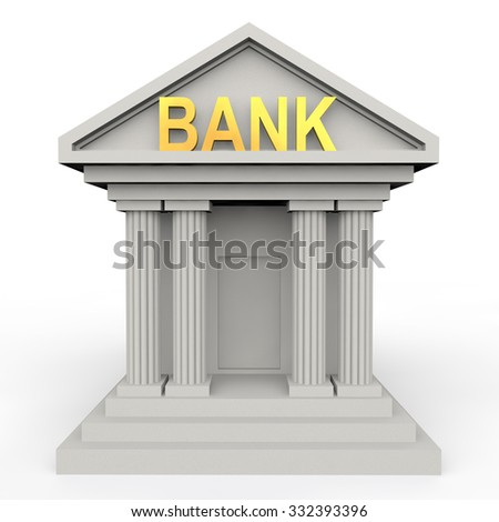 3d conceptual bank building