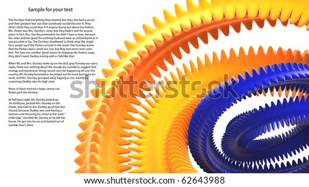 3D Conceptual colored abstraction