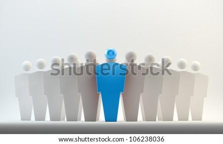 3D conceptual figures - leaders concept - stock photo