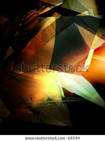 3D Conceptual Illustration Five - stock photo