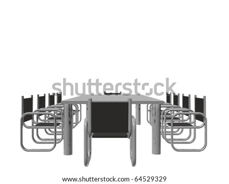 3D conference romm - stock photo