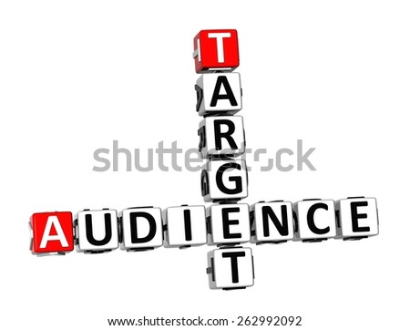 3D Crossword Target Audience on white background - stock photo