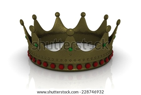 3d crown - stock photo