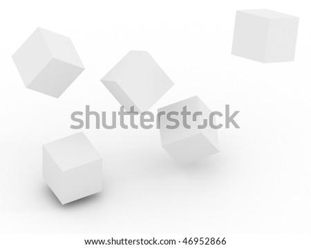 3d cube - stock photo