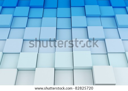 3d cube background - stock photo