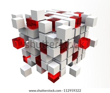 3d cubes - stock photo