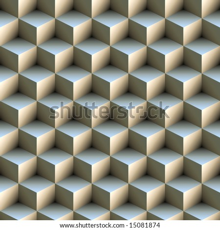 3D cubes, seamless texture - stock photo