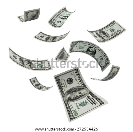 3D. Currency, Wealth, Paper Currency. - stock photo