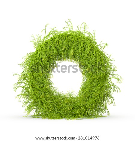 3d decorative nature letter O - stock photo