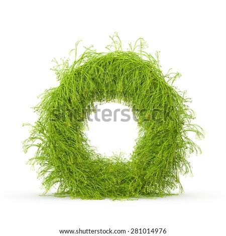 3d decorative nature letter O - stock photo