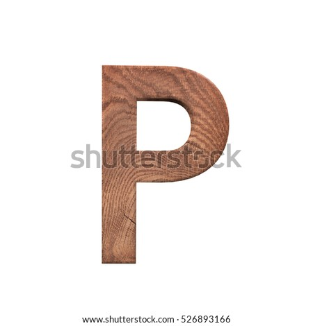 Single sawn wooden letter p symbol stock photo 461683192 for 3d wooden alphabet letters