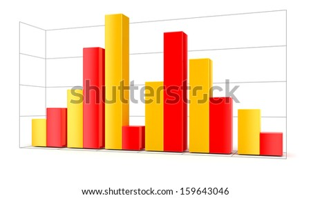 3d Diagram (clipping path included) - stock photo