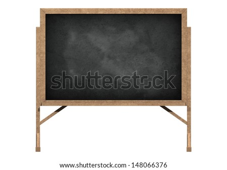 3D digital render of a blackboard isolated on white background