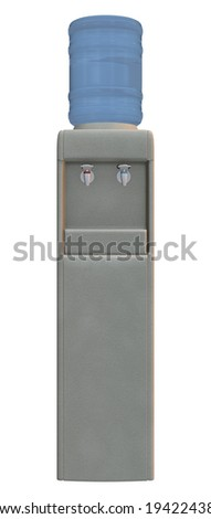 3D digital render of a water cooler isolated on white background - stock photo