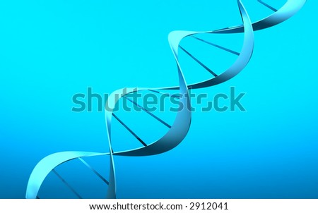 3d--DNA - stock photo