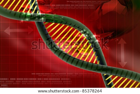 3d Dna in design - stock photo