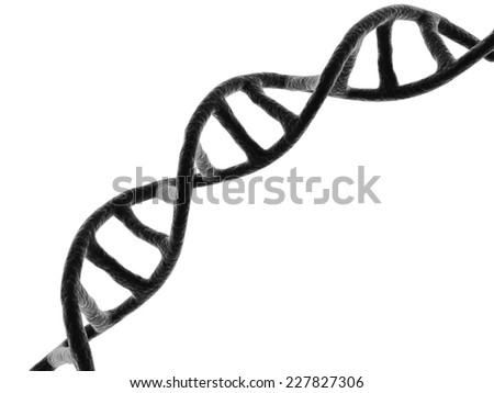 3d Dna isolated on white background - stock photo