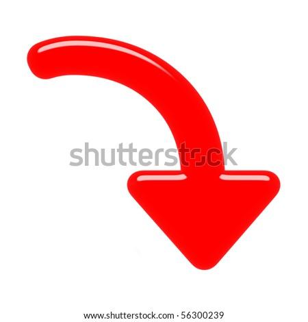 3d down arrow - stock photo