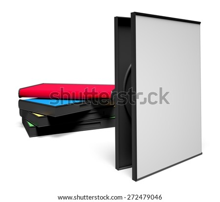 3D. DVD Case, DVD, Box. - stock photo