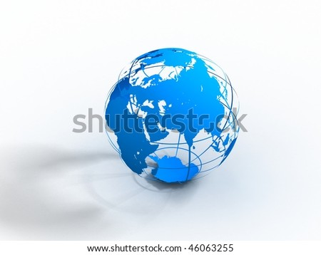 3d earth - stock photo