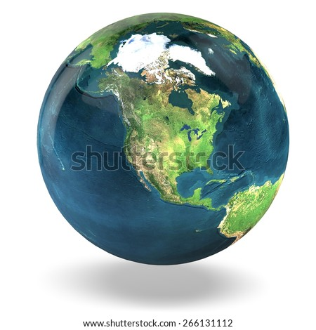 3D. Earth, Globe, Planet. Elements of this image furnished by NASA. - stock photo