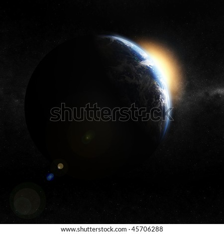 3d earth space view