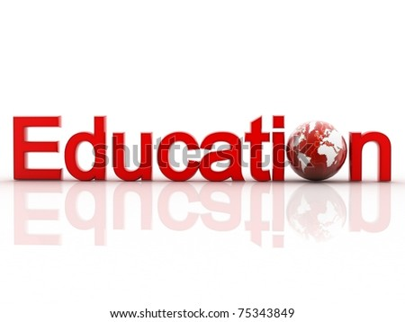 3d education word - stock photo