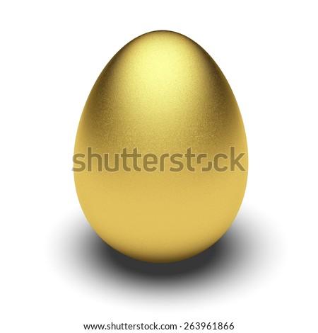 3D. Eggs, Animal Egg, Gold. - stock photo