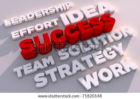 3d elements of success - stock photo