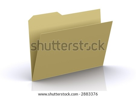 3d Empty Folder - stock photo