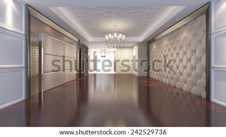 3D empty room design  - stock photo