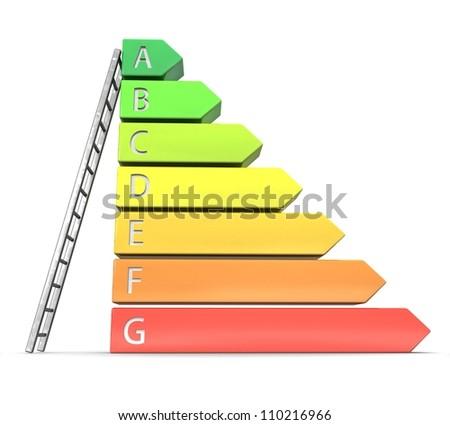 3d Energy efficiency concept - stock photo