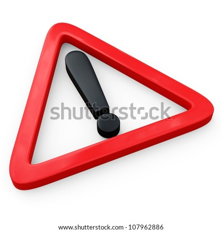 3d Exclamation Mark... - stock photo