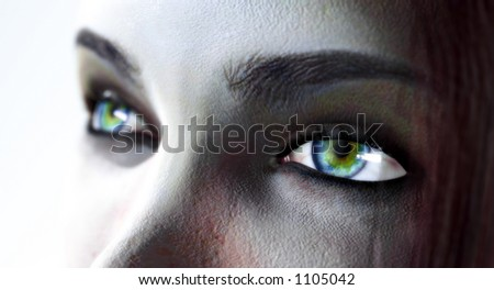 3d eyes - stock photo