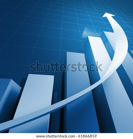 3d financial graph stat business background